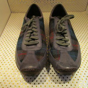 Cole Haan Driving shoes Grey and Plaid Mens 13m